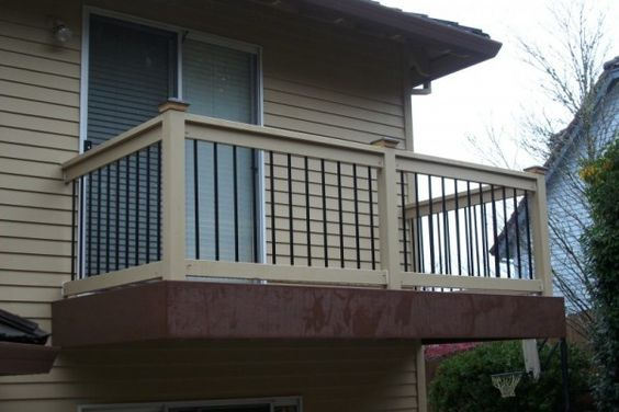 Small Second Story Decks Timbertech Rustic Bark Pvc Deck