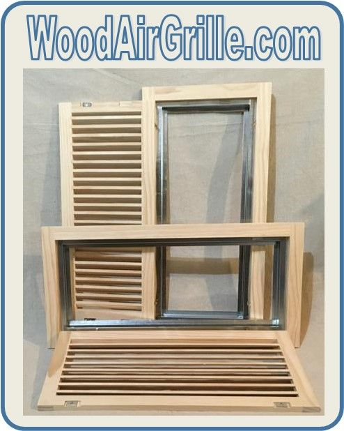 Wood Return Air Filter Grilles From Woodairgrille Com Open Like A Door And Have A Pre Installed Filter Housing Concealed Hinges Wood Grilles