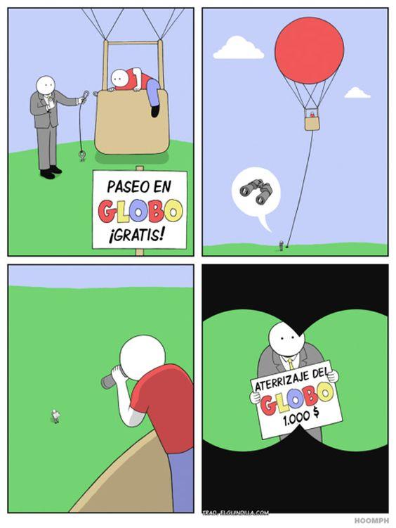 Paseo en globo gratis. #humor #risa #graciosas #chistosas #divertidas