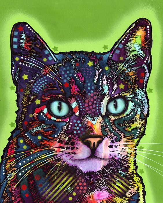 """""""The Watchful Cat"""" by Dean Russo Art.  This is also cool"""