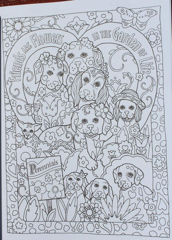 Amazon Creative Haven Dazzling Dogs Coloring Book