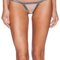 Love Haus by Beach Bunny Stripe Illusion Cheeky Panty in Tan
