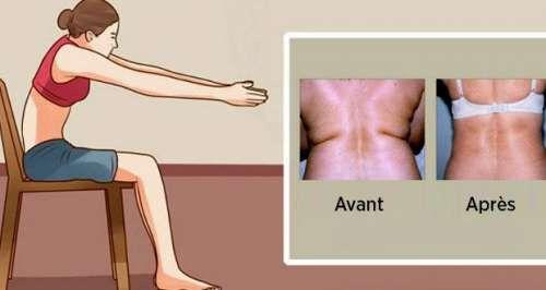 Votre dos souffre de l'accumulation des graisses ? Voici 5 exercices excellents à appliquer régulièrement…