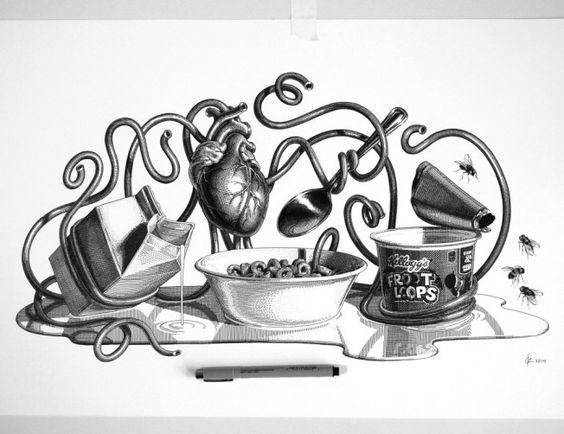 Ilustração Pontilhada de Olivia Knapp