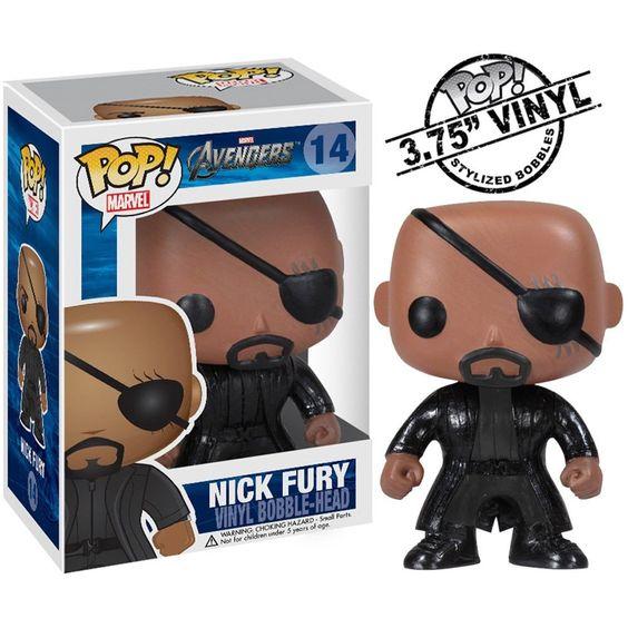 Funko POP Marvel (Bobble): Avengers - Nick Fury
