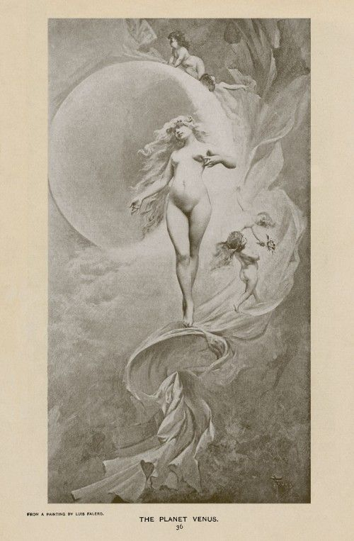 The Planet Venus by Luis Ricardo Falero 1882 litho copy