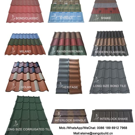 Stone Coated Roofing Sheet Projects In North Of China It Is Long Lasting Roofing Materials With Lightweight Whi Steel Roofing Sheet Metal Roofing Metal Roof