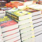 book stacks at costco