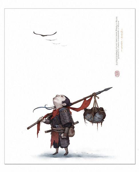 時雨 Art by Yi Wang • Blog/Website | (http://blog.sina.com.cn/u/1966132672)  ★…