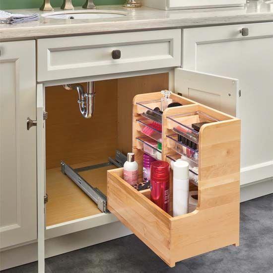 Rev A Shelf L Shape Reversible Under Sink Pullout Organizer Kitchenstorageideas In 2020 Bathroom Cabinet Organization Cabinet Organization Under Kitchen Sinks