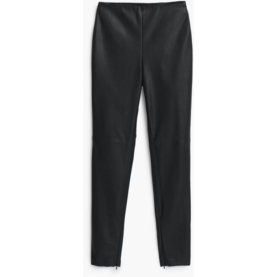 Zipped Hem Trousers (€41) via Polyvore featuring pants, high rise pants, highwaisted pants, high waisted zipper pants, high waisted pants and highwaist pants