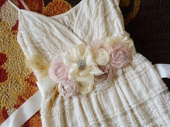 Dusty Pink Bridal Sash