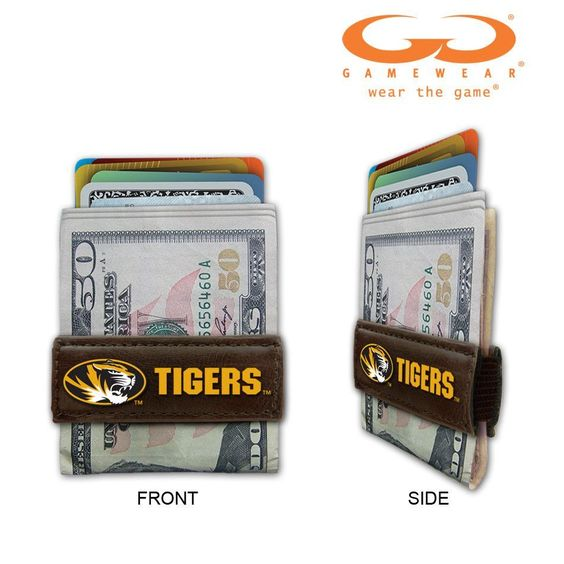 Missouri Tigers Game Ball Leather Money Clip