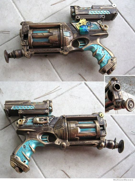 steampunk-nerf-gun. Hmmm, I have a nerf gun, though I was going to convert it to a River Song weapon