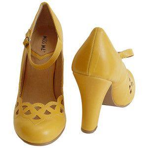 mustard yellow heels | cute clothes | Pinterest | Retro, Mustard ...