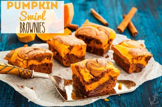 Pumpkin Swirl Brownies Fall Recipe - It's A Fabulous Life