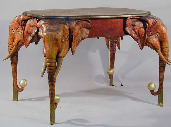 antique carved wood elefant dining table wood pinterest tables