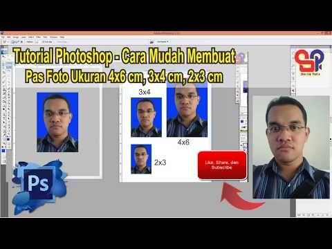 Cara Mudah Cetak Pas Foto 2x3 3x4 Dan 4x6 Dengan Photoshop Pas Foto Photoshop Pengeditan Foto