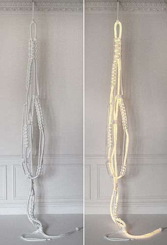 Christian Haas, macramee light objects