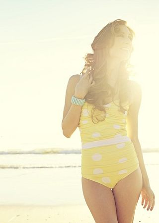 cute swimsuit - love the yellow