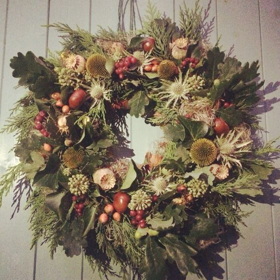 Autumn wreath   www.blossomandbramble.co.uk  Blossom and Bramble