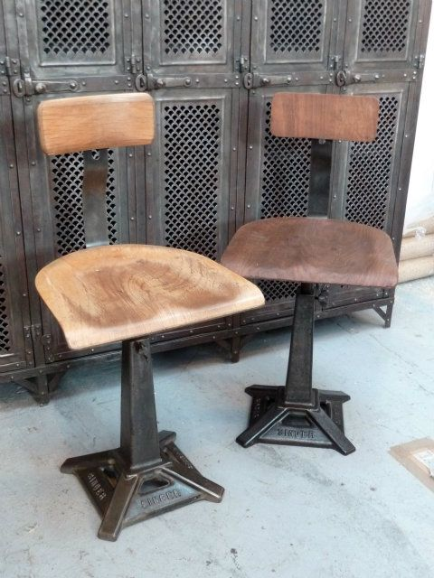 Old singer sewing chairs