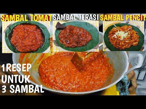 Sambal Pecel Lele Lamongan 1 Resep Untuk 3 Sambel Youtube Resep Makanan Asia Memasak Resep Masakan