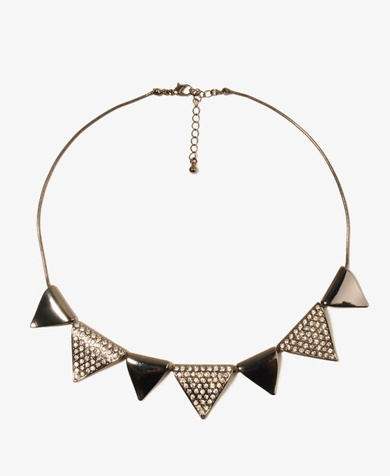 Sparkling Triangle Necklace | FOREVER21 - 1043875819