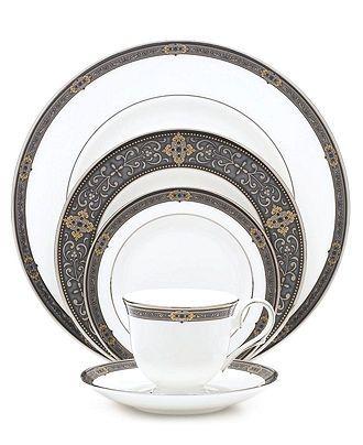 Lenox Dinnerware, Vintage Jewel 5 Piece Place Setting - Fine China - Dining & Entertaining - Macy's Bridal and Wedding Registry