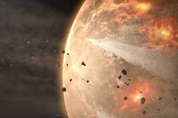 Today's atmosphere likely bears little trace of its primordial self: Geochemical evidence suggests that Earth's atmosphere may have been completely obliterated at least twice since its formation more than 4 billion years ago. However, it's unclear what interplanetary forces could have driven such a dramatic loss.