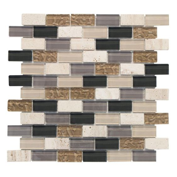 10/sqft jeffrey court cedar cove 1x2 12 in. x 12 in. glass and ...
