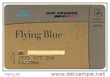 MEMBER CARD - FREQUENT FLYER AIRFRANCE KLM GOLD - 2005 EXP. 08