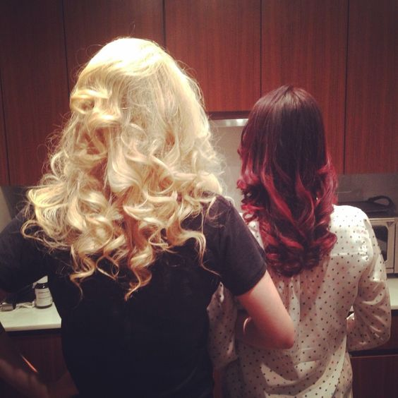 Gorgeous curls on the brilliant and beautiful White sisters from last week's appointment with @danygenie