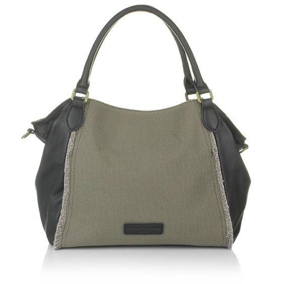 Liebeskind – Dara Linen Grey/Black N - Liebeskind Dara Linen Grey/Black N  Handtaschen
