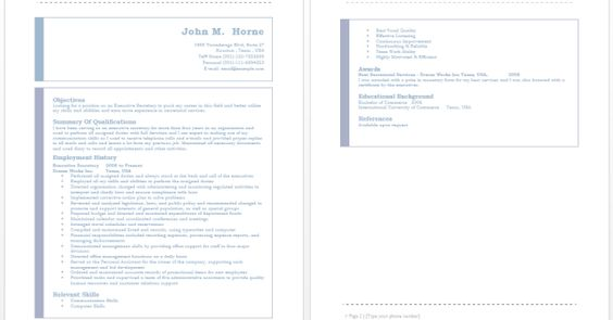 Executive Administrative Assistant Resume Resume \/ Job - child care manager sample resume