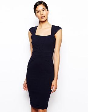 Vesper Valentina Pencil Dress with V Detail
