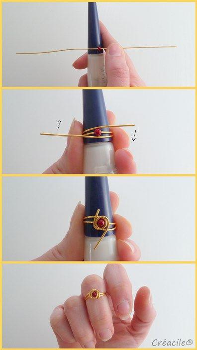 Tuto bijoux – Bagues de phalanges | Créacile                                                                                                                                                     Plus: