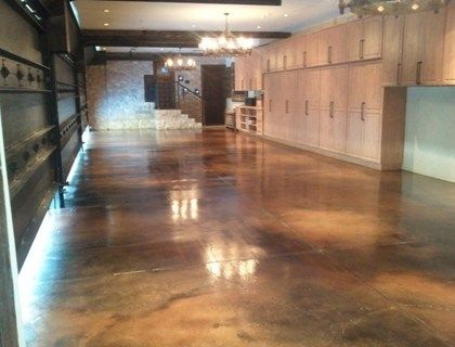 Black stained concrete garage floors stained concrete for How to clean stained concrete garage floors
