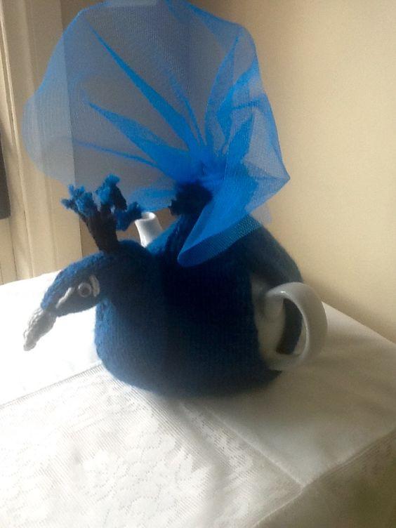 Peacock Tea Cosie. $39