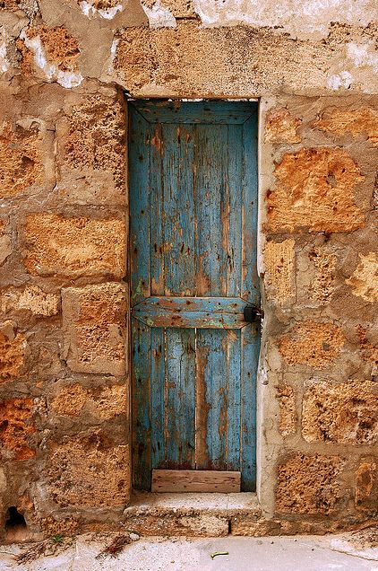 The skinny Blue Door. Batroun. Lebanon. By Mohannad Khatib