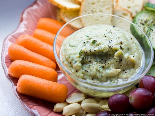 White-Yam-Bean-Garlic-Dip