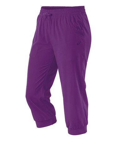 Purple Magic Styled Capri Pants by ASICS #zulily #zulilyfinds
