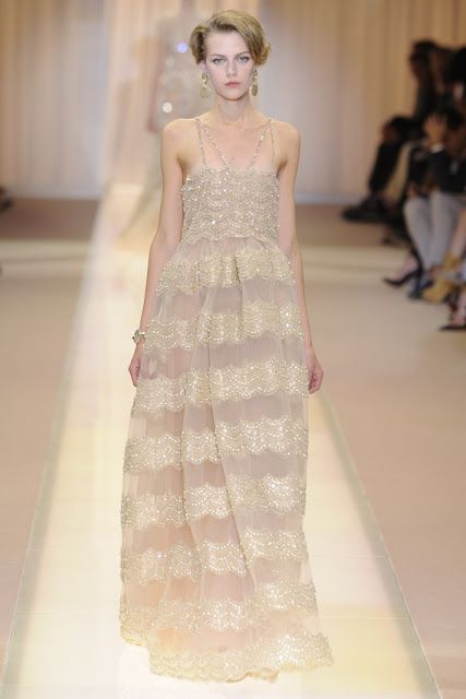 Cool Chic Style Fashion Haute Couture | Armani Priv Fall Couture 2013 | pink  beige loveliness #armani #armaniprive #hautecouture #fall2013couture #coolchicstylefashion #pink #beige #dressgown