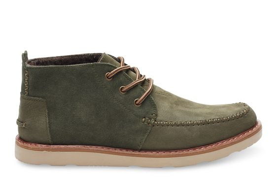 undefined Tarmac Olive Suede/Full Grain Leather Men's Chukka Boots