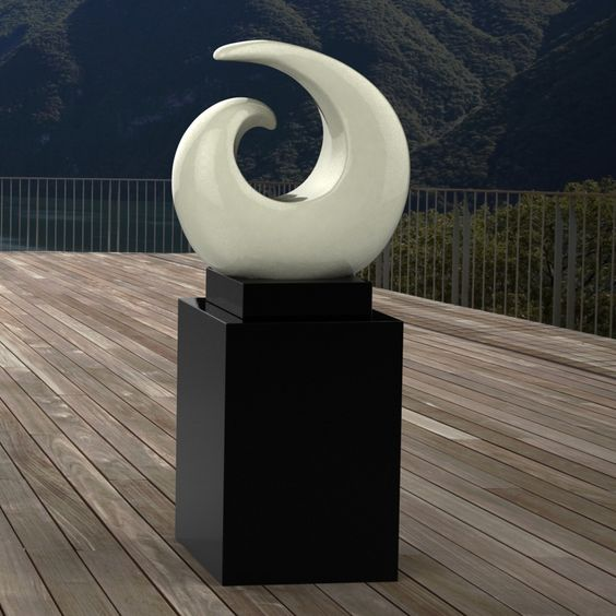 Revolve Contemporary Garden Sculpture On Pedestal. Buy Now At Http://www.