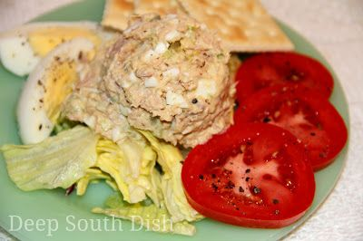 Mustard deep south dish and deviled eggs on pinterest for Tuna fish salad recipe with egg
