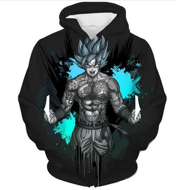 Femmes//Homme d/'impression 3D Casual Sweat à Capuche Sweat Pull-over DRAGON BALL Z CELL