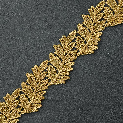 1-5/8 Inch Metallic Gold Lace Trim for Bridal, Costume or Jewelry, Crafts and Sewing by 1 Yard, LP-MX-4314 Joyce Trimming Lace Trim http://www.amazon.com/dp/B00SI1LS2M/ref=cm_sw_r_pi_dp_nidMwb0K1RJCZ