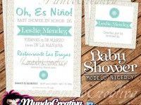 :: Cute Invitaciones para Baby Shower :: Modelo NICEDLY ::