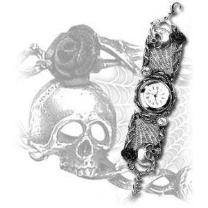 Alchemy Gothic ROSE GARDEN Pewter Watch AW.10: Amazon.co.uk: Kitchen & Home